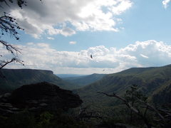 Rock Climbing Photo: Looking South down the gorge from the top of The D...