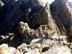 Rock Climbing Photo: Towers between Guyselman and Gore Thumb. Bypass ge...
