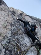 Rock Climbing Photo: Having fun on the run out 5.7 start.