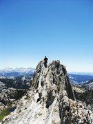 Rock Climbing Photo: My Wife having fun on Mathes Crest