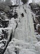 Rock Climbing Photo: Running up the always fun Chiller Pillar