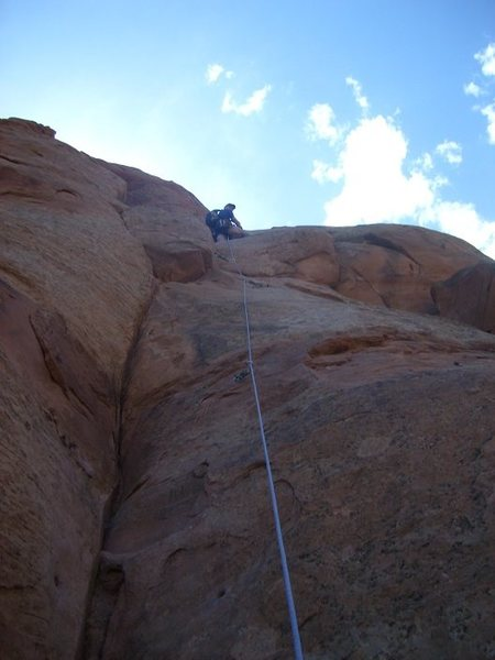 Rock Climbing Photo: Having Fun on Otto's route.