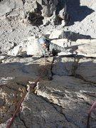 Rock Climbing Photo: My good Friend having fun on Red Dihedral