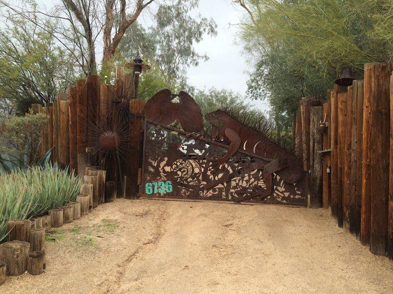 Rock Climbing Photo: My front gate