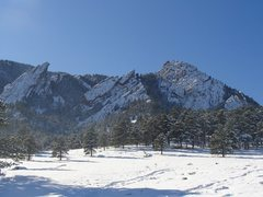 Rock Climbing Photo: Classic Flatirons photo.
