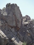 Rock Climbing Photo: Showing Classic Finger Crack from the trail.