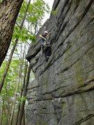 Rock Climbing Photo: Having fun on Hysteria