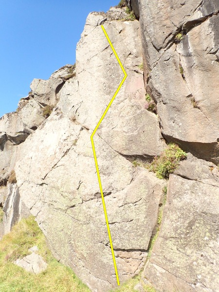 Rock Climbing Photo: Leið feimna fólksins, 5.6