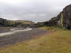 Rock Climbing Photo: Wider angle view of Leið feimna fólksins