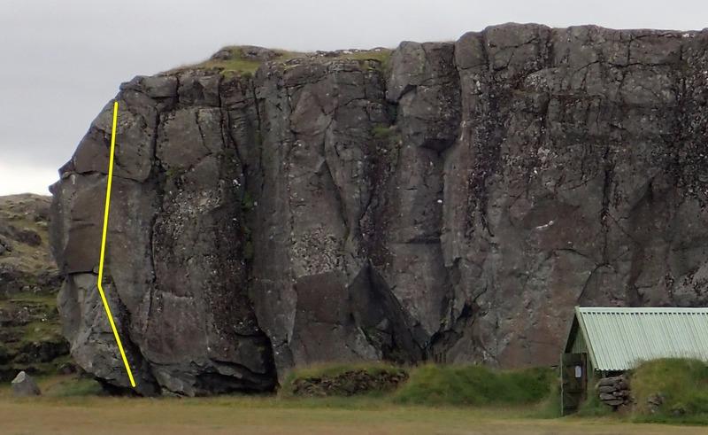Rock Climbing Photo: Gyllti víkingurinn