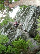 Rock Climbing Photo: Having fun on White Lightning