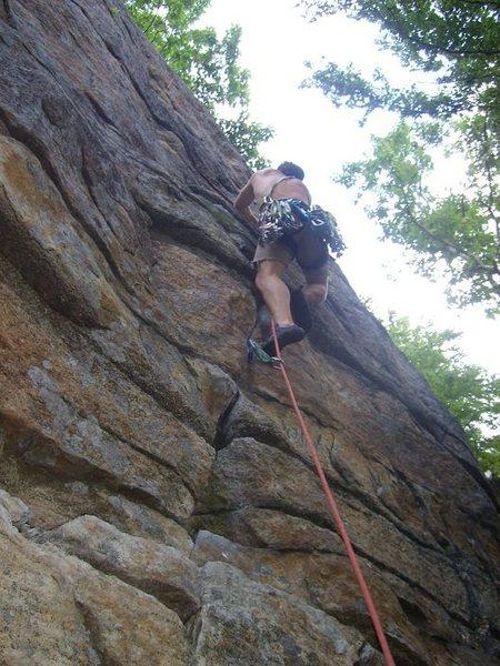 Rock Climbing Photo: Having fun on Ken's Crack