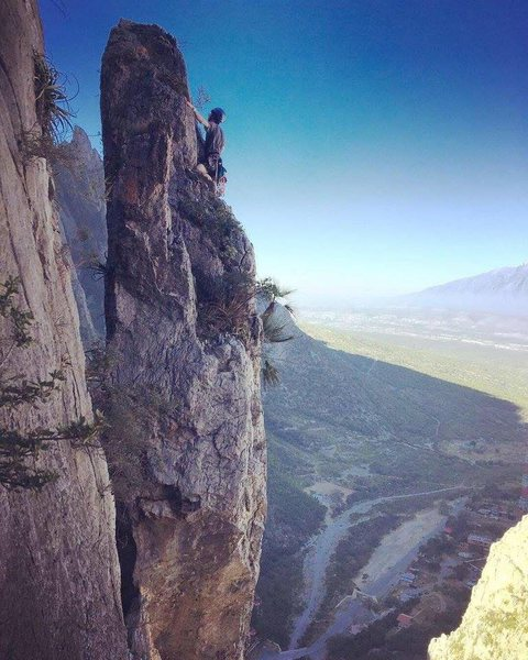 Rock Climbing Photo: Justin finishing up pitch 4. Big thanks to the sup...