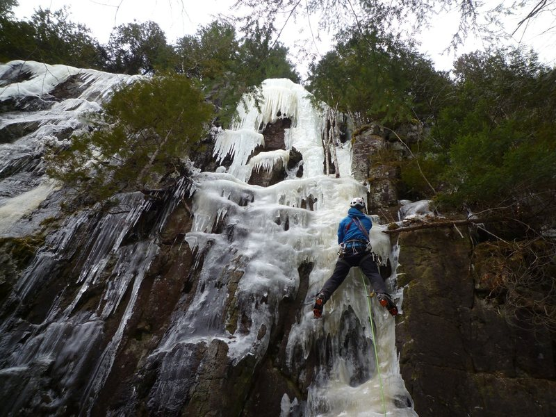 Rock Climbing Photo: It wasn't too early to climb it!  (The route i...