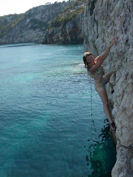Ionian Sea bouldering.
