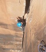 Rock Climbing Photo: 2nd pitch Vision Quest -Bridger Jacks, UT