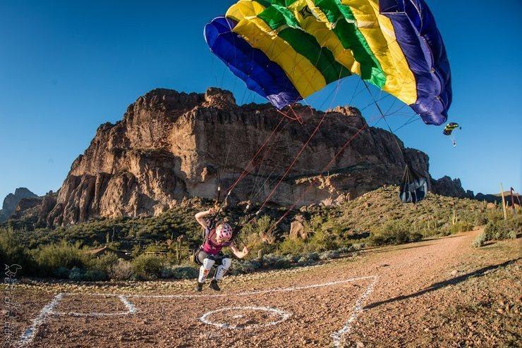 Rock Climbing Photo: BASE landing -Superstition Mountains, AZ