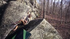 Pinch and slap your way up the arete.