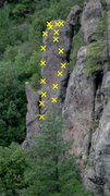 Rock Climbing Photo: Sweet Dreams 5.10a and Flying Machines 5.10c