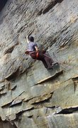 Rock Climbing Photo: Pulling on the classic honeycomb crimps and pocket...