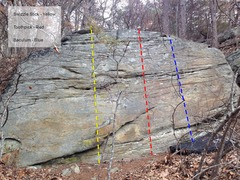 Rock Climbing Photo: Coon dick boulder. I'm sure people have been c...