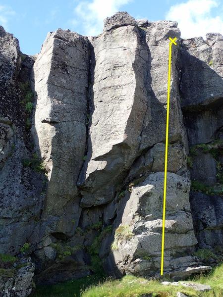 Rock Climbing Photo: Sjónarhorn, 5.10c