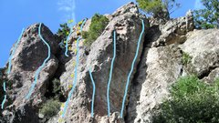 Rock Climbing Photo: Off the Radar 5.10 a/b showing left and right fini...