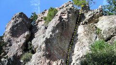 Rock Climbing Photo: Dogfight 5.10b