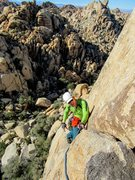 Rock Climbing Photo: Peter Pribik following P2 of The Great Unknown, No...