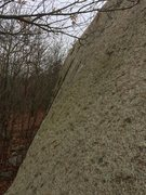 Rock Climbing Photo: The upper section of Snarf taken from the top of K...