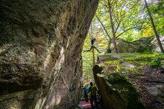 Rock Climbing Photo: But how do you get back down?.... Photo: Tim Kempl...