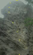 Rock Climbing Photo: Shooting Star 5.10d