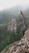 Rock Climbing Photo: Kimball Canyon Crag in the mist