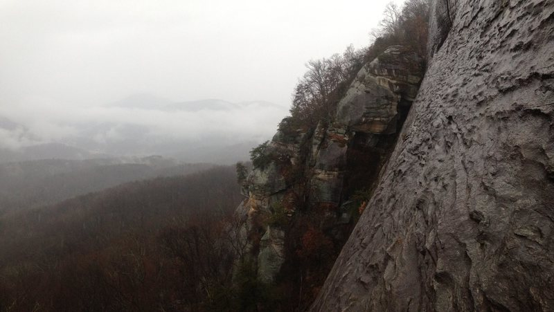 View from the belay station