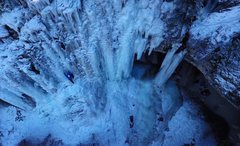 Rock Climbing Photo: Community Cave, mostly in.  Aerial photography by ...