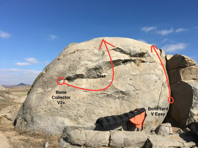 Rock Climbing Photo: The Boneyard Boulder