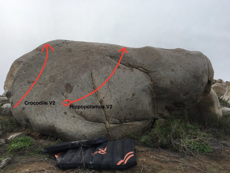 Rock Climbing Photo: Hippopotamus Boulder