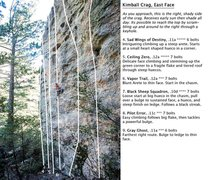 Rock Climbing Photo: Kimball Canyon North Face Routes. The climber in t...