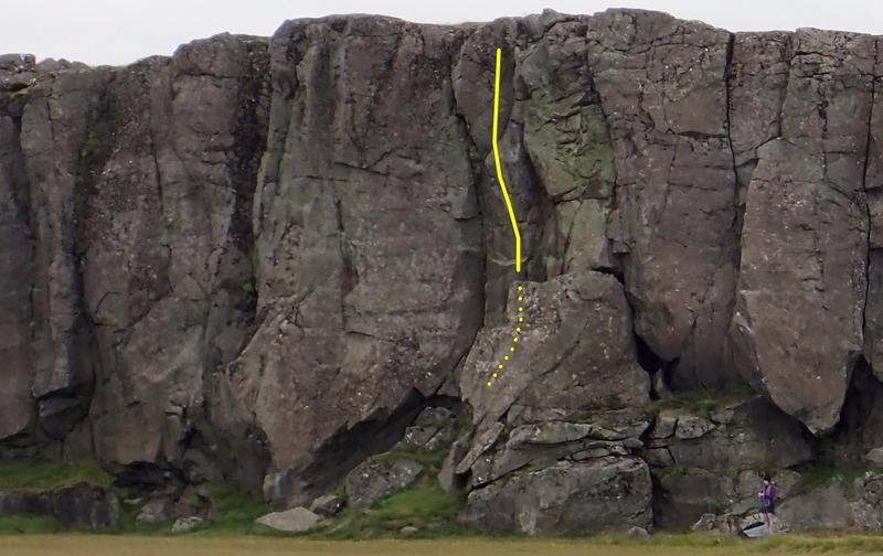 Rock Climbing Photo: Besta leið á landinu, 5.8