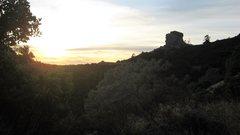 Rock Climbing Photo: The Turks Head at sunset.