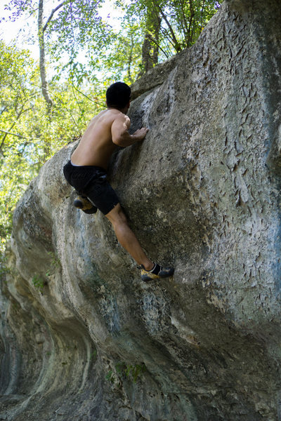 Rock Climbing Photo: Fire in the Belly top out