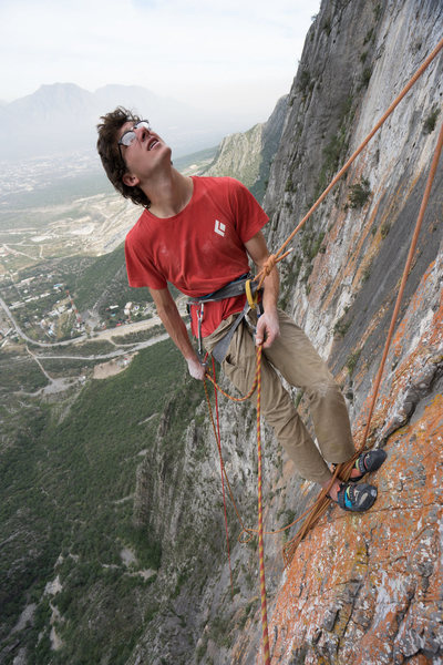 Steep hanging belays and great views all around. Photo by Callen Hearne