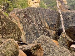 Rock Climbing Photo: The hope and change Boulder when viewed from Trail...