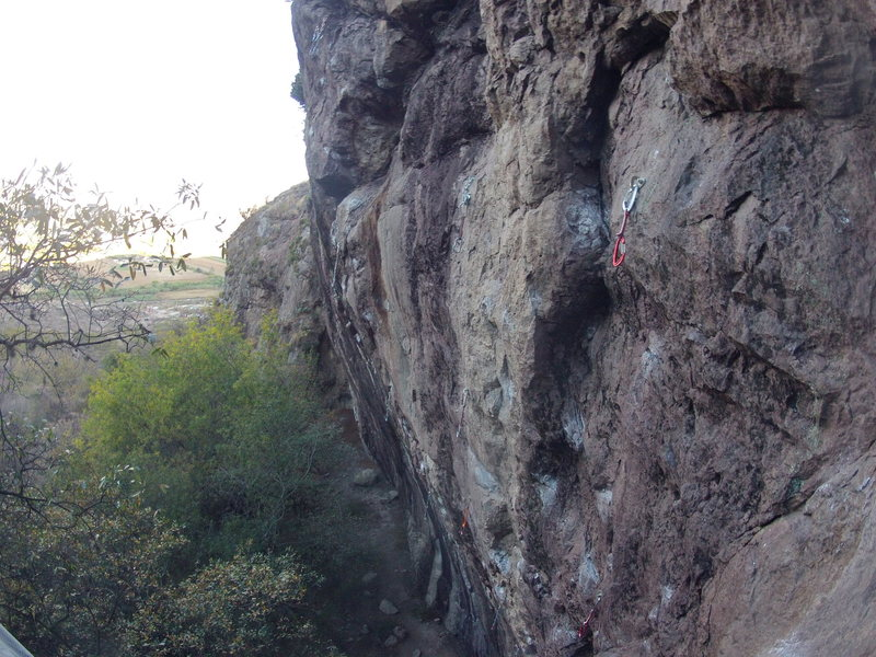 Rock Climbing Photo: The routes left of Quimera.