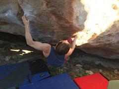 Rock Climbing Photo: Hi Pro Glow sending