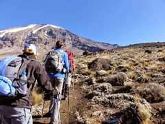 This time with group trekking at Kilimanjaro and believe me this the best climbing i have done.