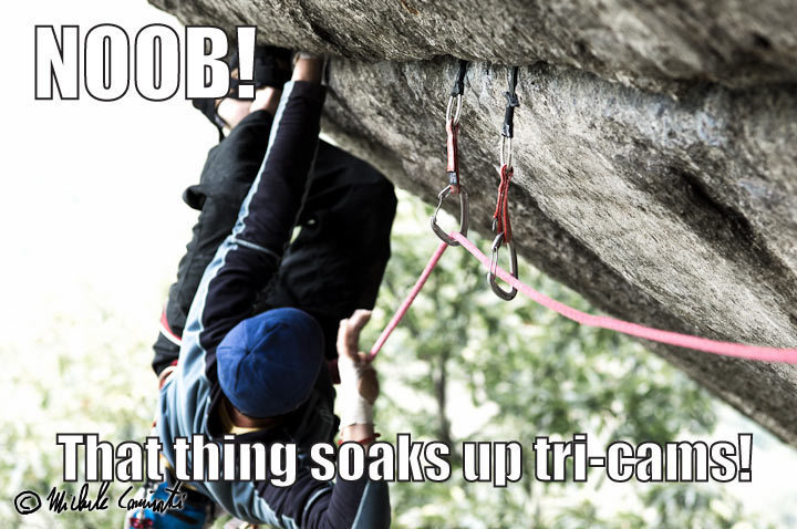 Rock Climbing Photo: Cam placing noob!
