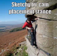Rock Climbing Photo: sketchy