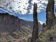 Rock Climbing Photo: Totem Pole, Lower Devils Canyon
