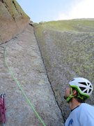 Rock Climbing Photo: Nearing top of P2. Anthony belaying